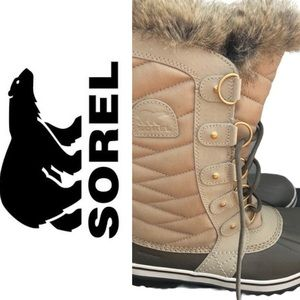Sorel tall fur boots